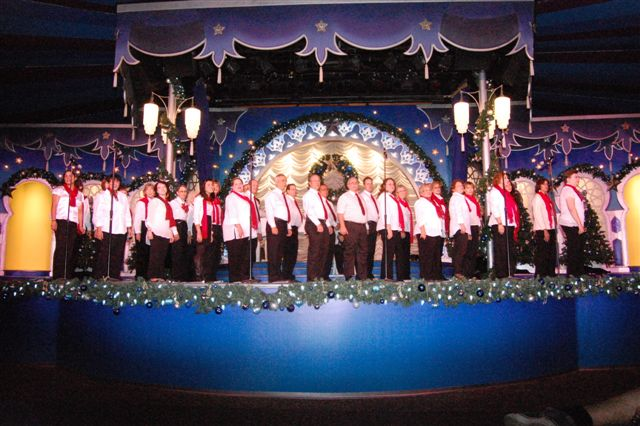The Chorus performs at Christmas Town: A Busch Gardens Celebration