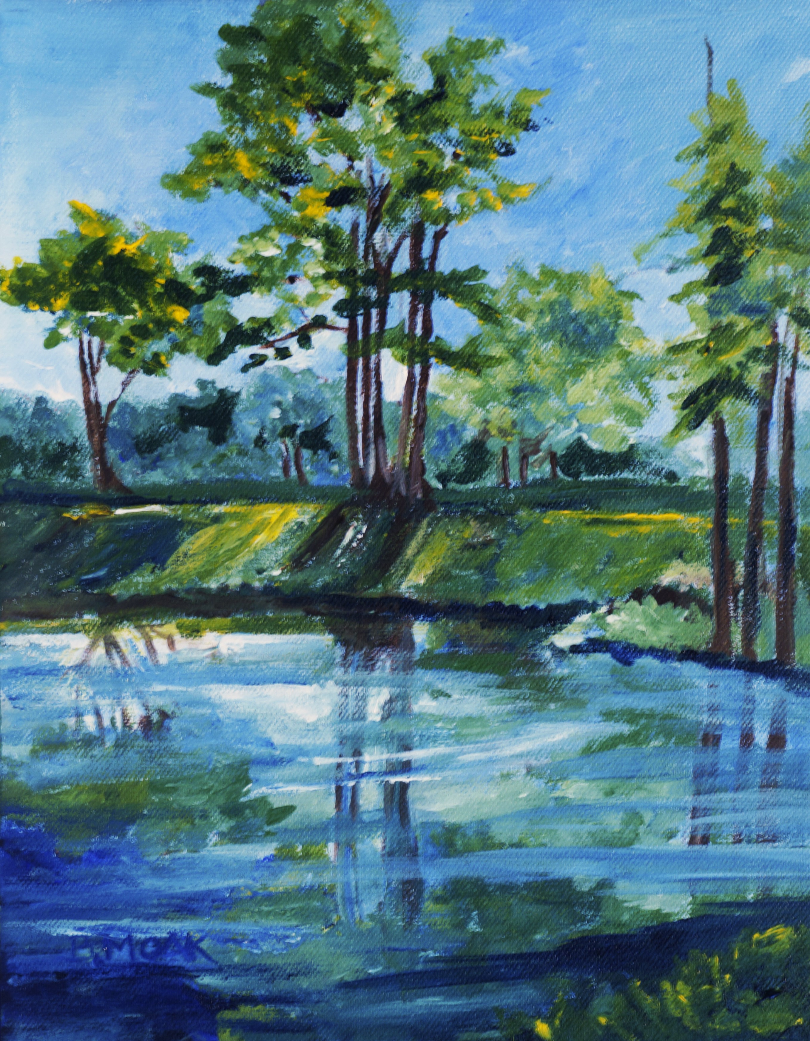 """""""West Village Pond"""" by Barbara Moak Willey"""