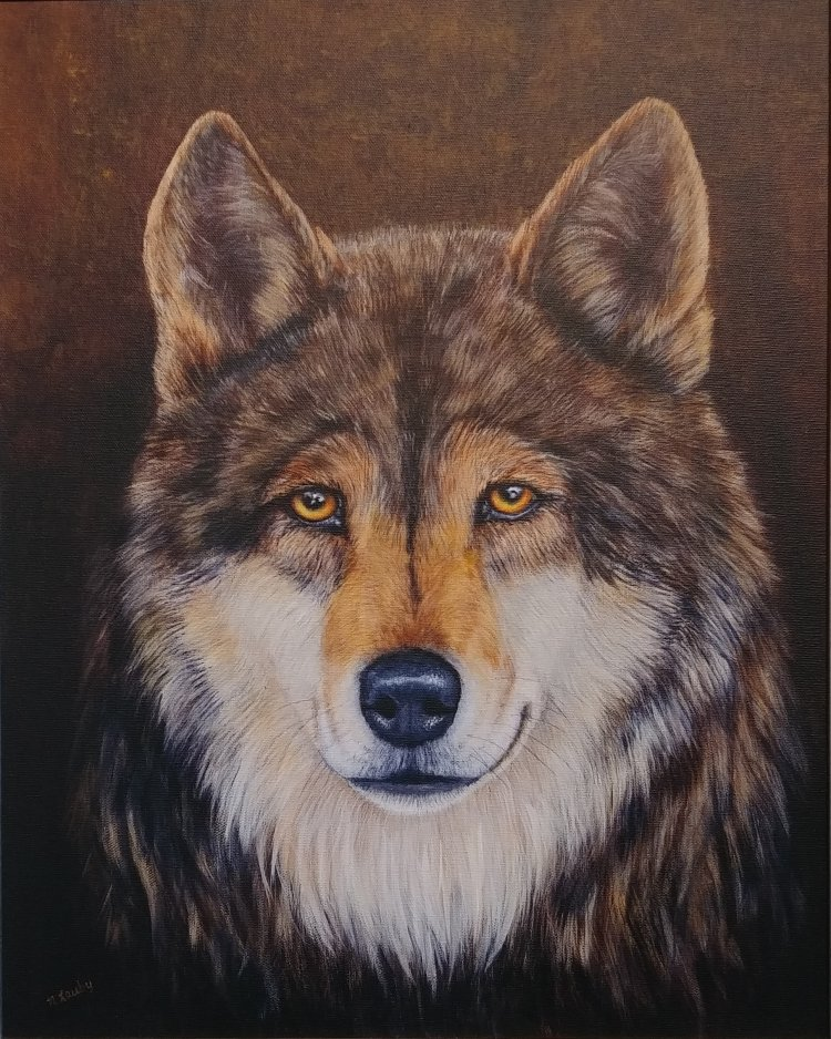 """Alpha Wolf"" (Giclee) by Nancy Lauby"