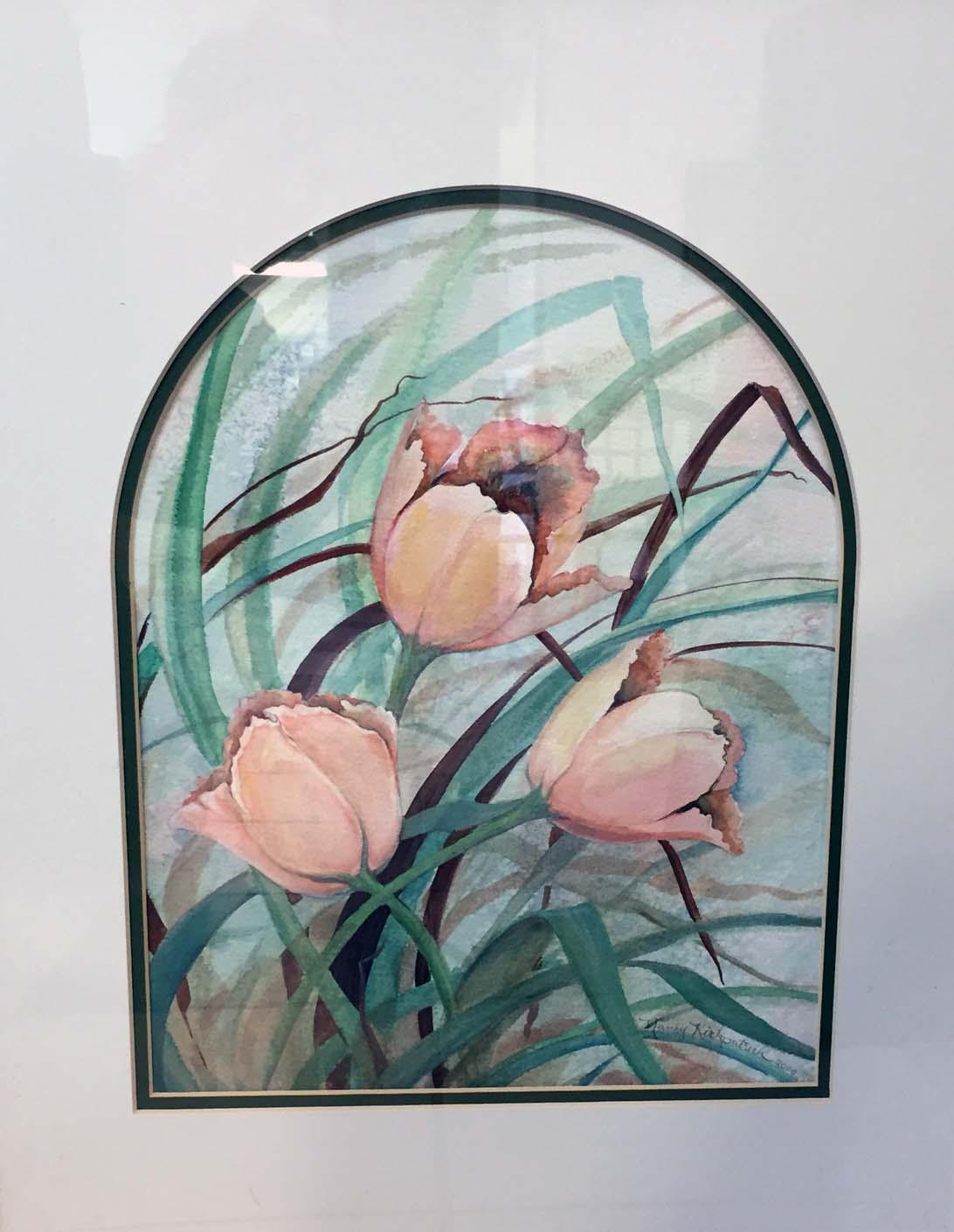 """""""Peach Tulips"""" by Nancy Kirkpatrick Sr"""