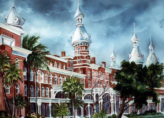 """""""The Grand Tampa Bay Hotel – University of Tampa"""" by Roxanne Tobaison"""