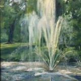 Fountain at Millennium Garden by Barbara Moak Willey