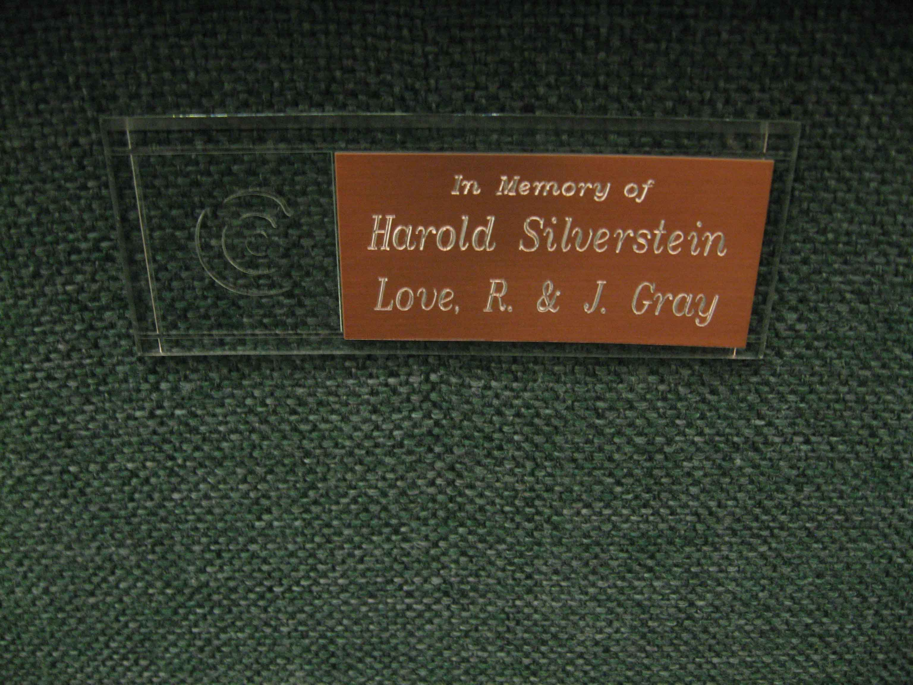 First-Chair-Harold-Silverstein