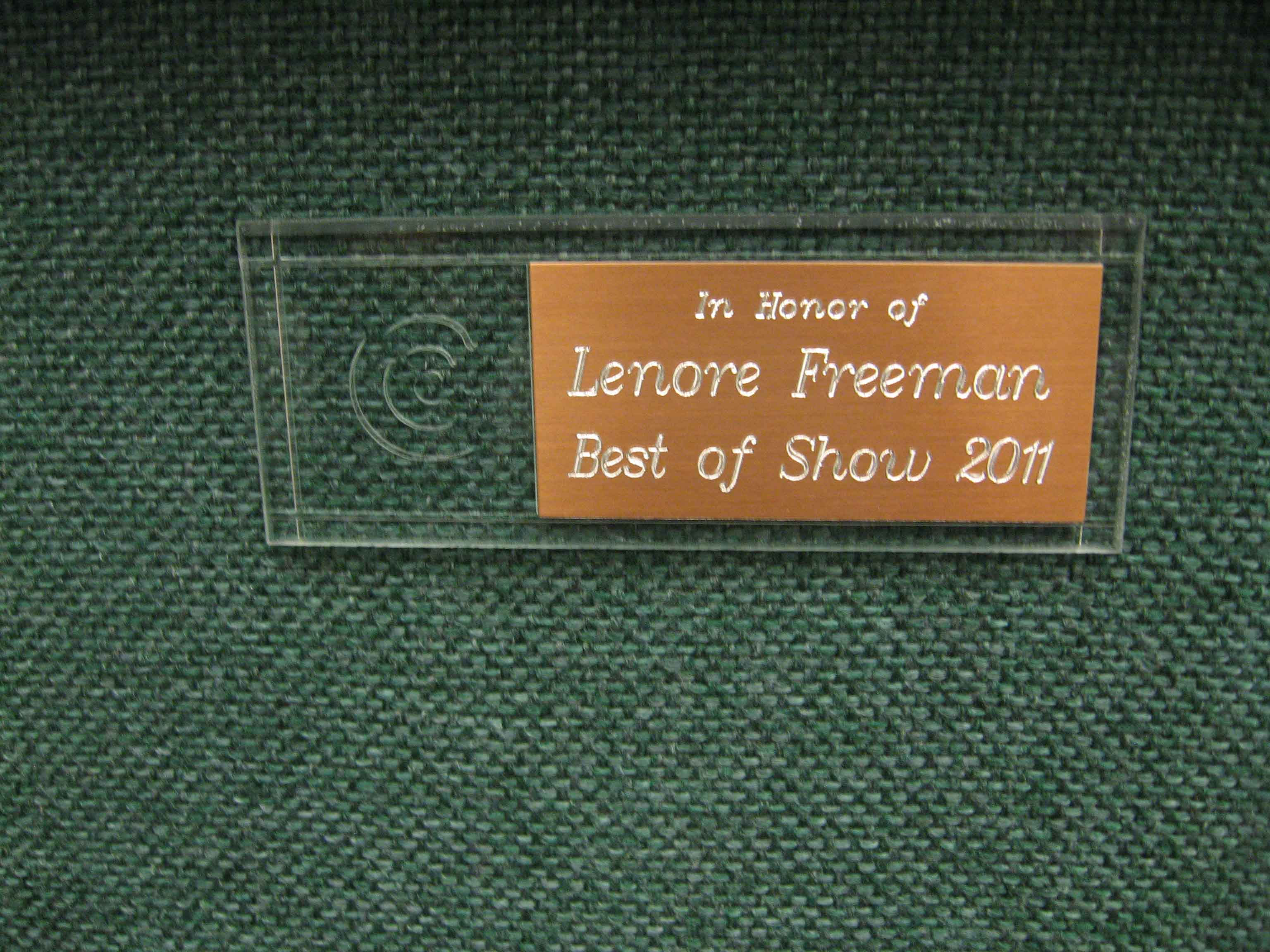 First-Chair-Lenore-Freeman-Best-in-Show