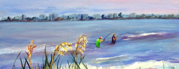 """""""Fishing in the Gulf"""" by Polly Berlin"""