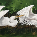 """""""2 Egrets"""" By Emily Levy"""