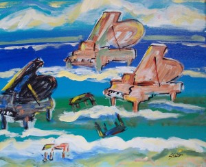 """""""Pianos in the Surf"""" by Peter Stilton"""