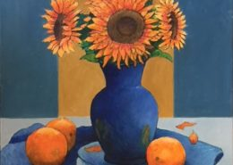 Sunflowers and Oranges by Gainor Roberts