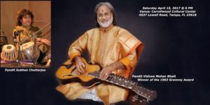 VISHWA MOHAN BHATT - CLASSICAL INDIAN GUITARIST @ Carrollwood Cultural Center | Tampa | Florida | United States
