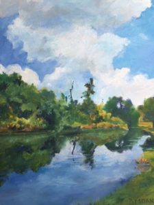 """Waterway at Millennium Garden"" by Barbara Moak Willey"