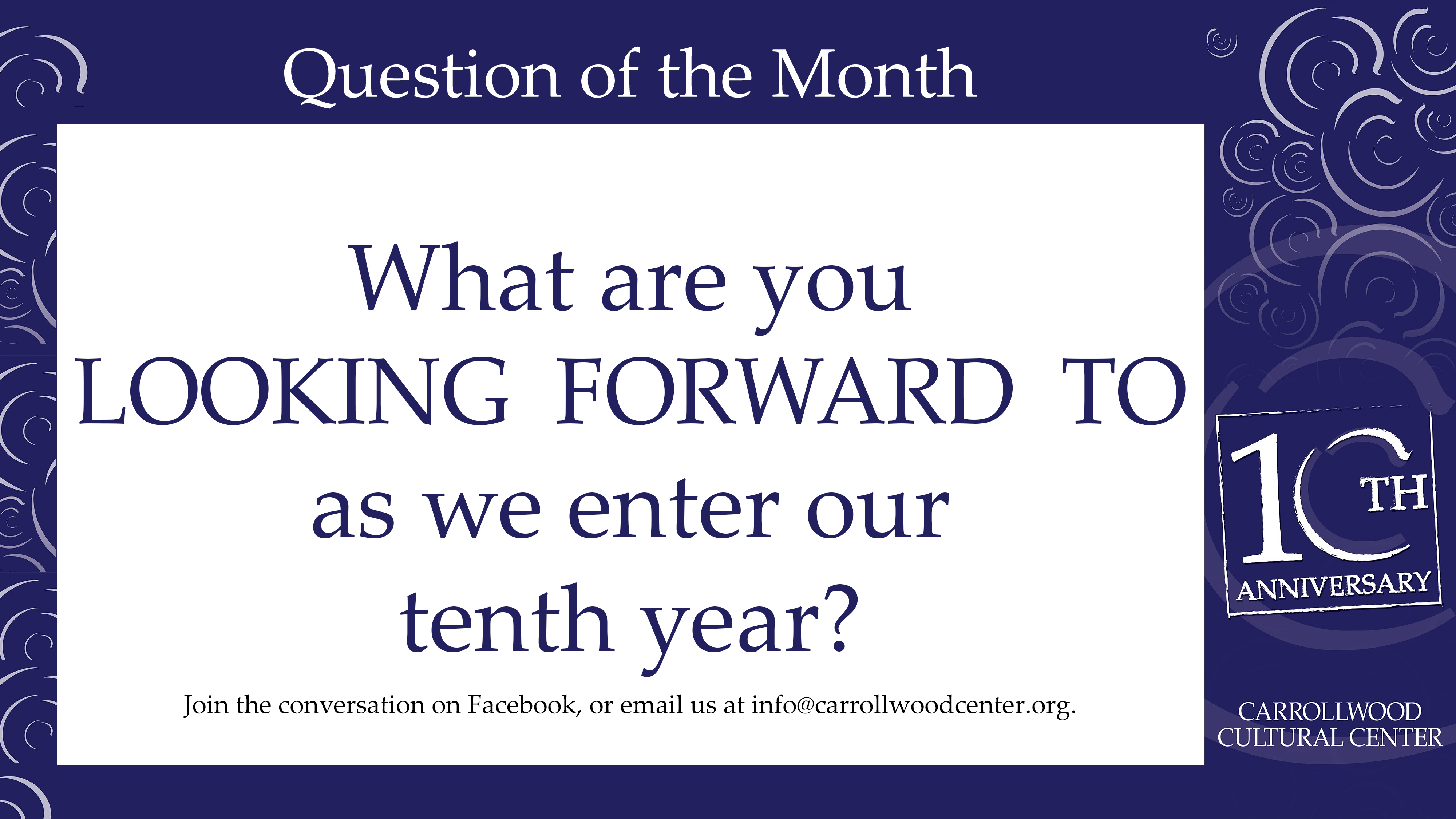 2017 November Question of the Month