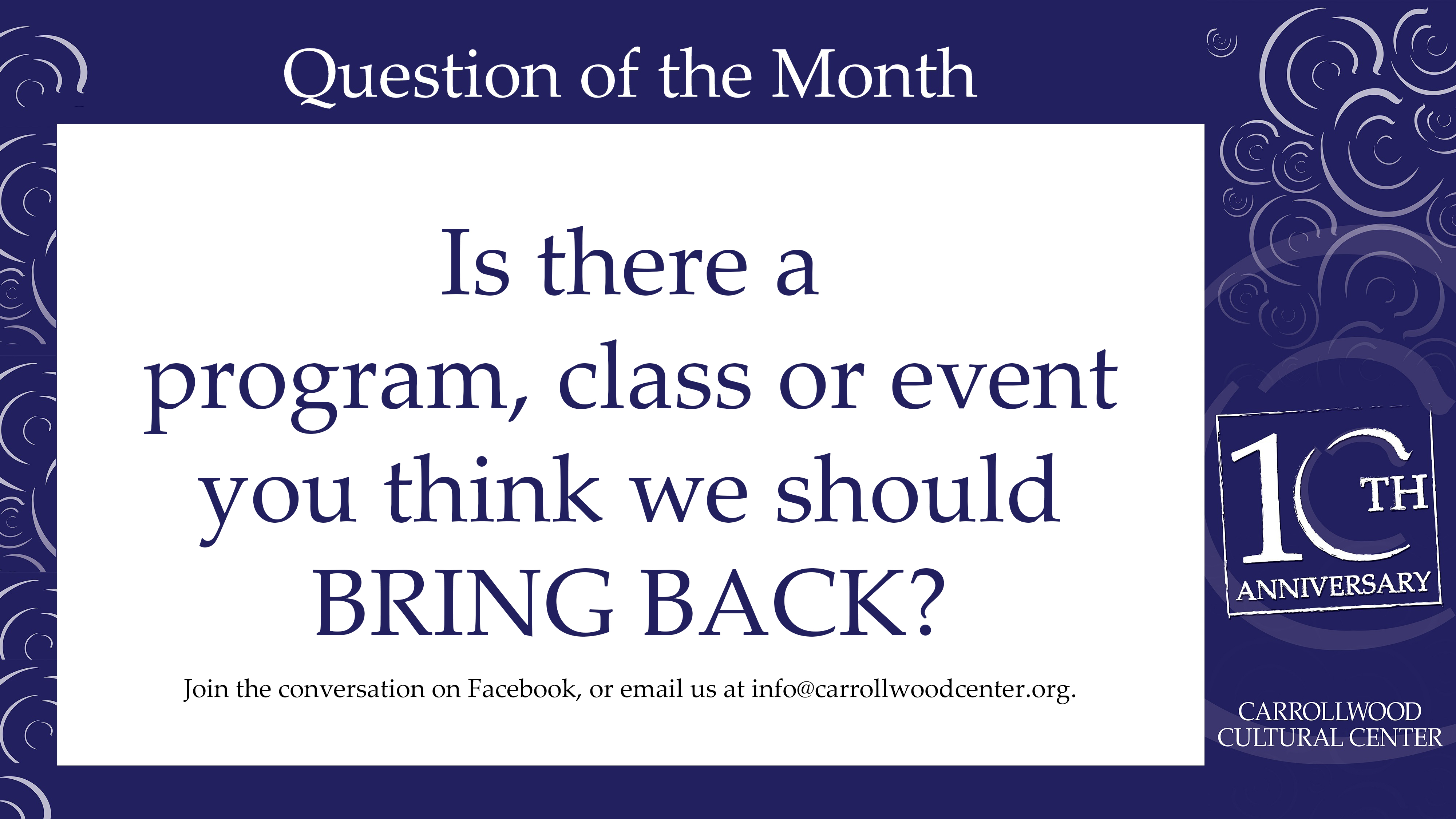 2018 January Question of the Month