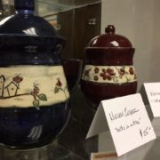 Ceramics - Round jars with lids