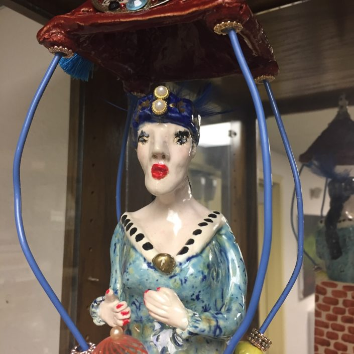 Hand Building Class - Madame Gilda Fortune Teller by Debbie Hofer (2)