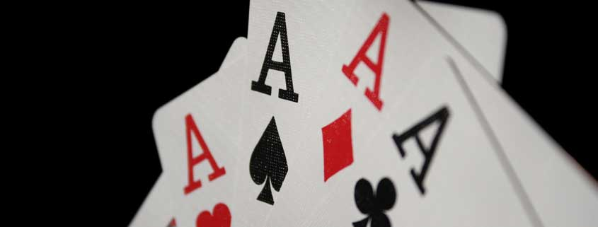 Playing cards - Four aces - publicdomain