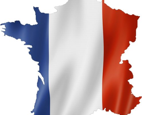 France flag over country image