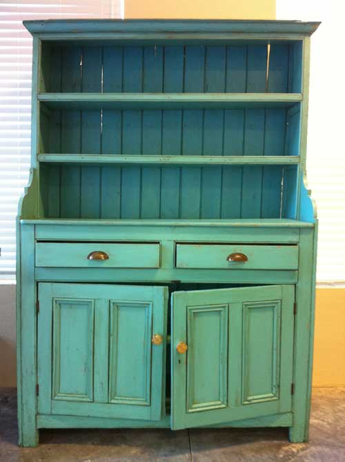 Creative Furniture Finishing - teal cab