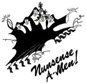Nunsense A-MEN logo - bw