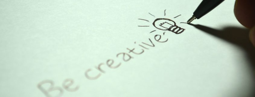 Be Creative Writing with Lightbulb