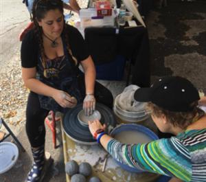 Alexis Arrazcaeta, pottery teacher