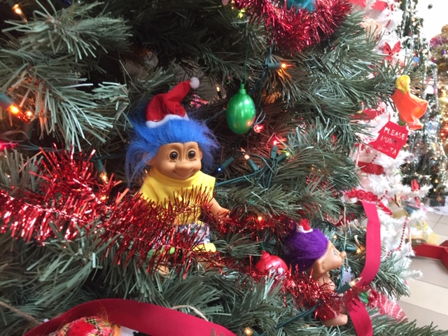 2018 Tree Display & Auction - Life of Trolls by Ruth Levy