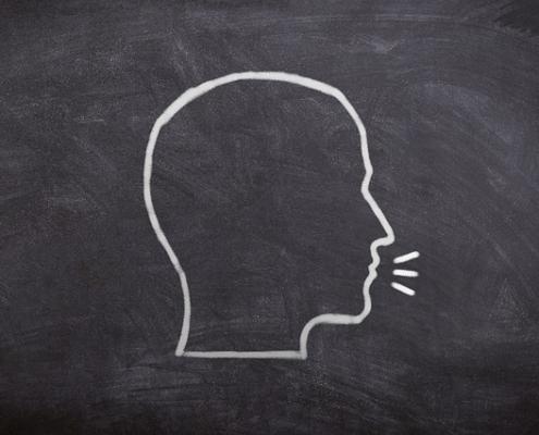 Audition - head on chalk board