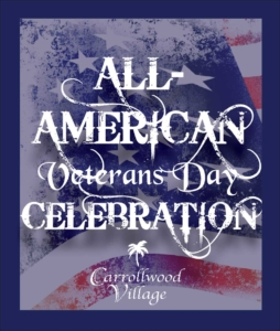 ALL-AMERICAN VETERANS DAY CELEBRATION @ Carrollwood Cultural Center (Park)