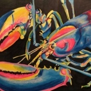 Lobster Under Black Light by Pamela Torres