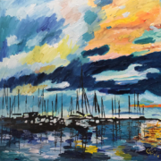 """Sunrise on the Harbor"" by Caroline Karp"