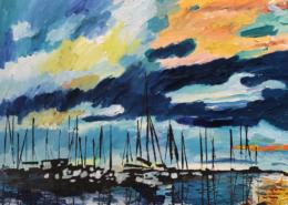 """Sunrise on the Harbor"" by Caroline Karp"