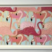 Flamingo Flock by Britt Ford