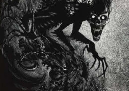 Night Terrors by Stanley Morrison - graphic for Spooky Creatures (October 2020)